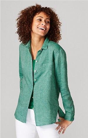 Shop our linen easy shirt