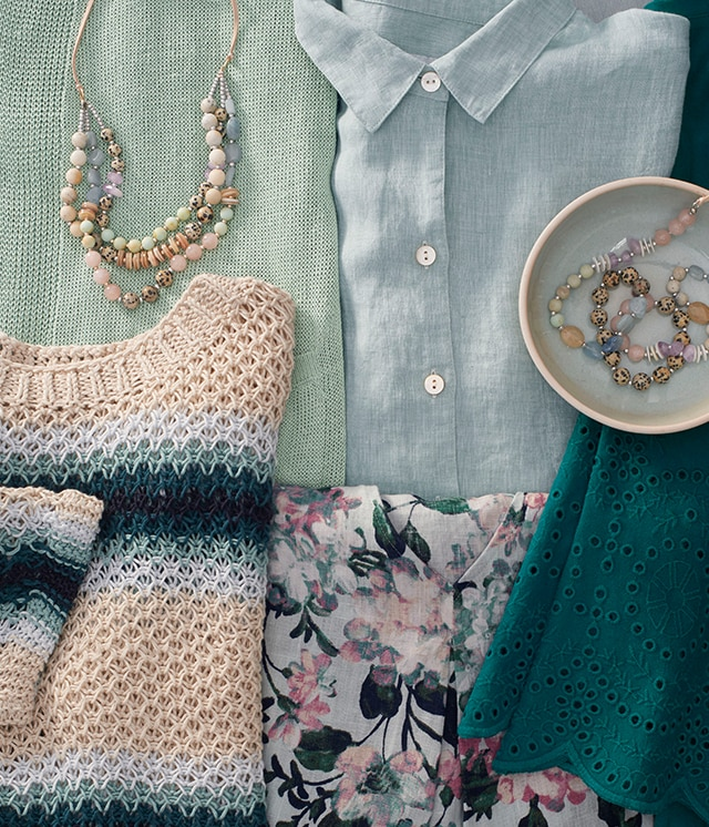 Shop our soft shades of green