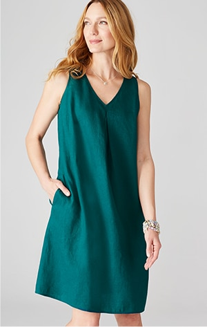 Shop our linen a-line dress