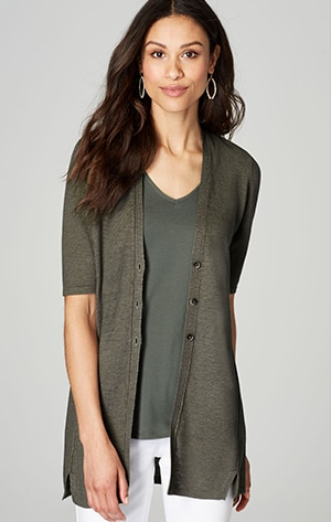 Shop our light elbow-sleeve cardi