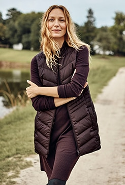 Shop our side-zip down puffer vest
