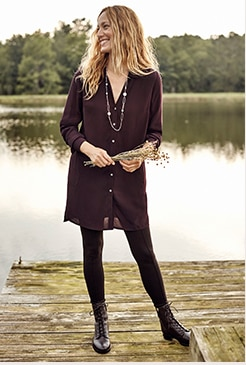 Shop our rayon A-line tunic