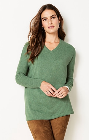Shop our V-neck pullover