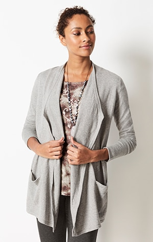 Shop our cotton and cashmere cardi