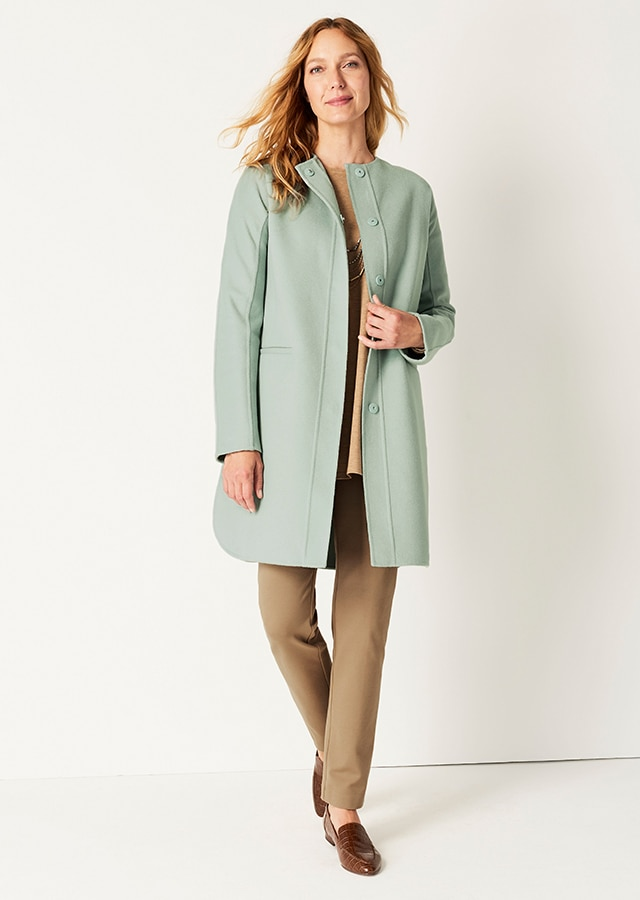 Shop our Double-Faced Snap-Front Coat
