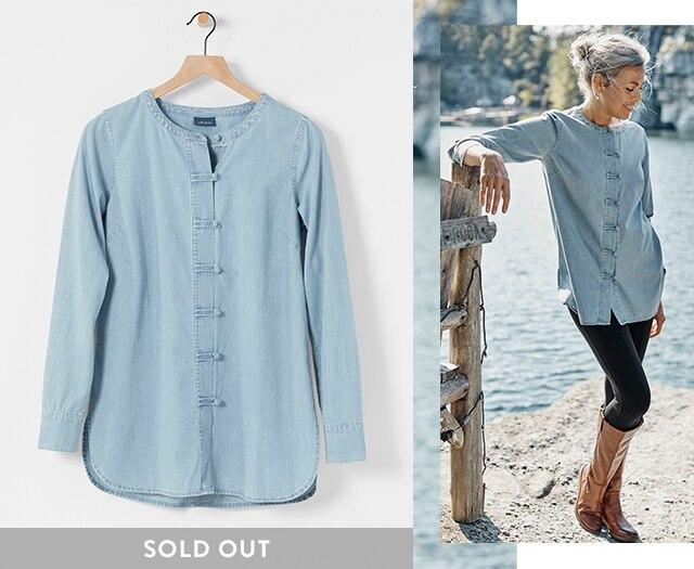 Shop our Knot-Button Shirt