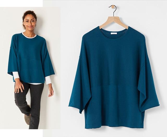 Shop our Pure Jill Kimono-Sleeve Sweater