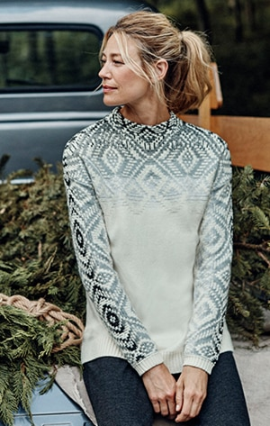 Shop our ombré Fair Isle sweater