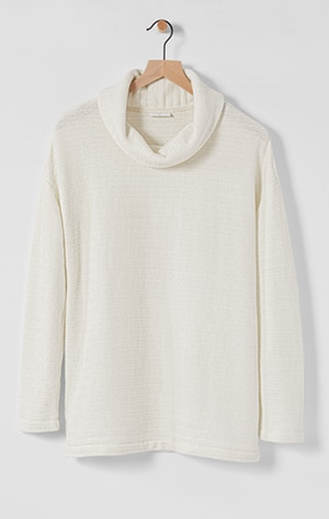 Shop our relaxed chenille knit top