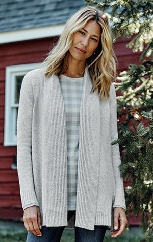 Shop our cozy shawl-collar cardi