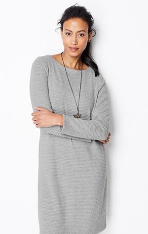 Shop our ottoman-knit A-line dress