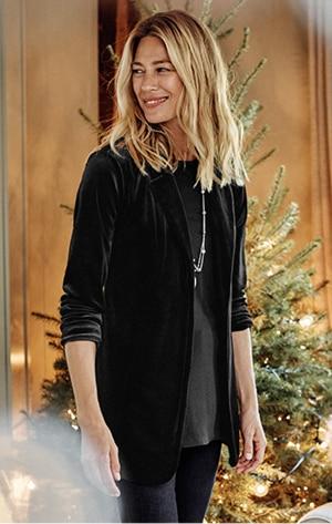 Shop our Wearever velvet-knit blazer