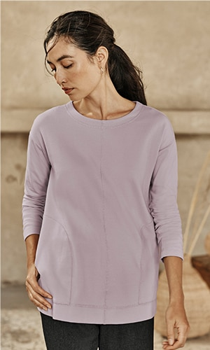 Shop our Pure Jill soft-brushed scoop-neck top