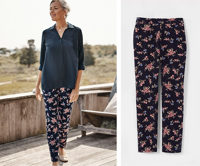 Shop this Floral-Pants Outfit