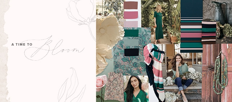 Colors, patterns and designs used as inspiration for the new clothing and accessories from the Spring 2021 collection