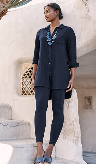Shop our Pure Jill Cotton Double-Cloth Tunic