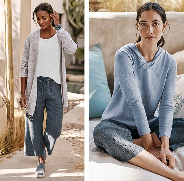 Shop our Pure Jill Linen & Cotton Straight Full-Leg Crops