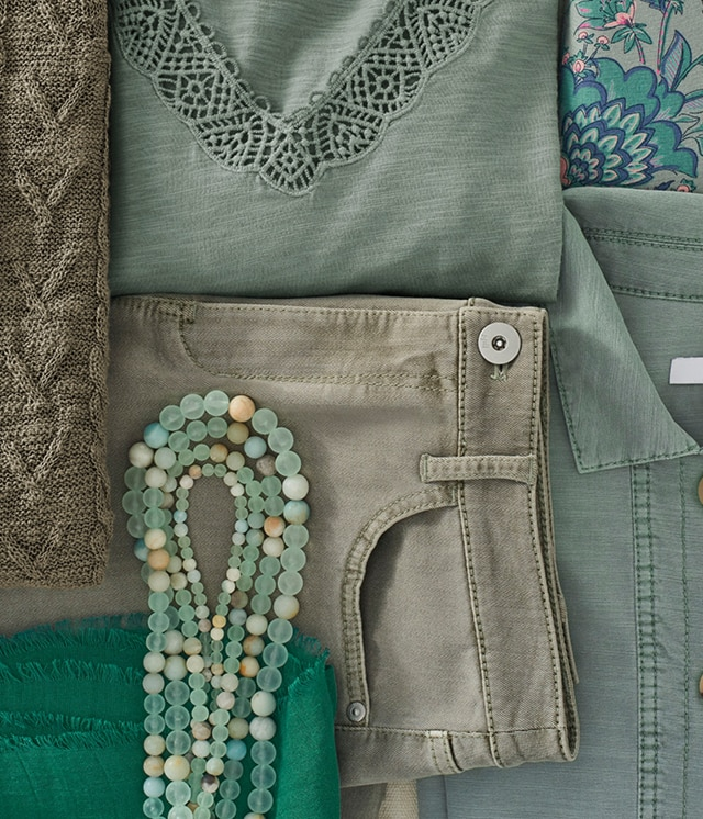 Shop our shades of green