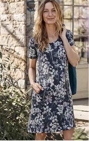 Shop our Elliptical A-Line Knit Dress