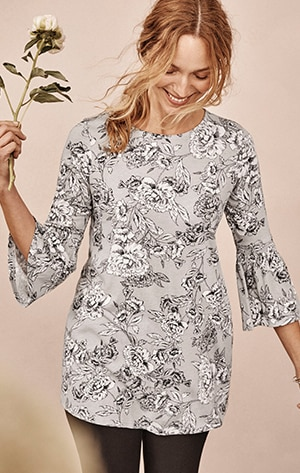 Shop our Smocked-Sleeve Knit Tunic