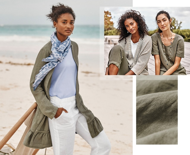 Shop Pure Jill garment-dyed linen styles
