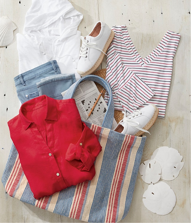Shop our shades of red, white and blue