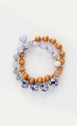 Shop our porcelain blue semiprecious stretch bracelet