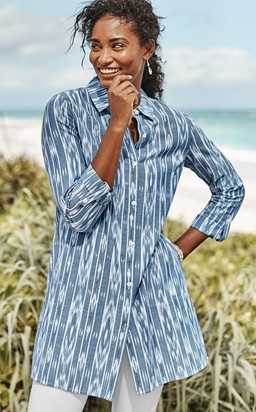 Shop our Pure Jill ikat tunic