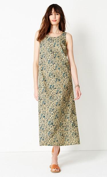 Shop our Pure Jill Kalamkari maxi dress
