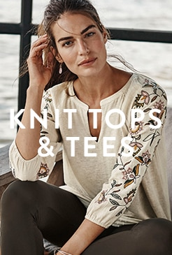 Shop our knit tops & tees
