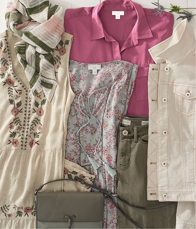 Shop our shades of pink and green