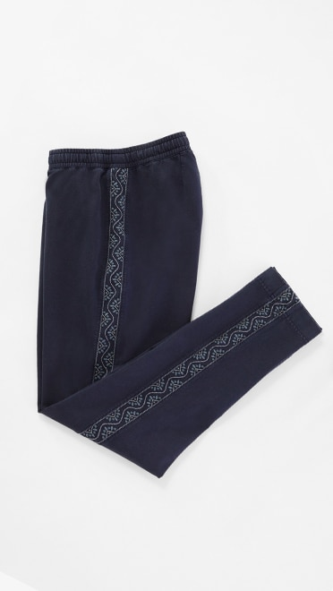 Shop our Garment-Dyed Embroidered Knit Pants