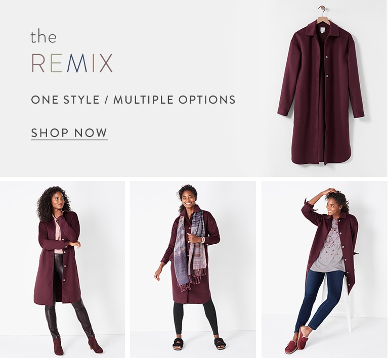 Shop The Remix: one style, multiple options