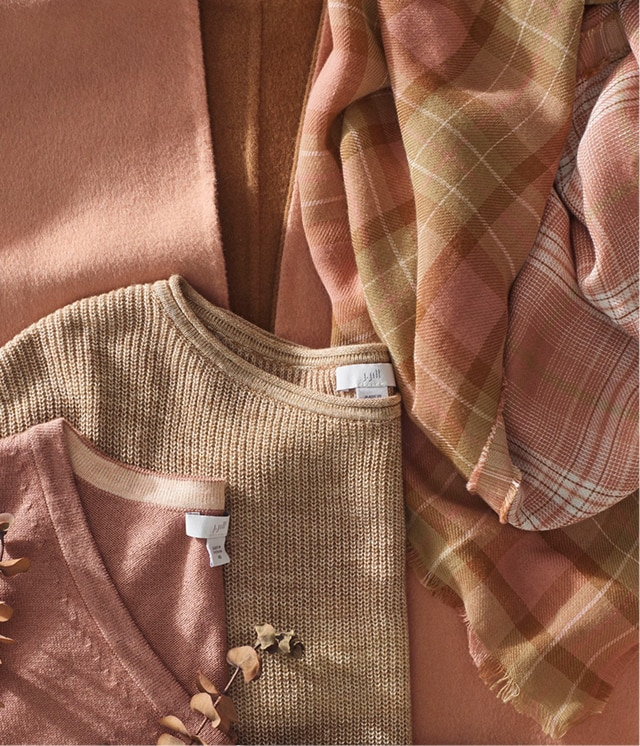 Shop our shades of chai latte and fresh pinks