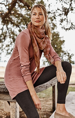 shop our Highland V-Neck Sweater Tunic