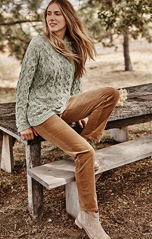 shop our Pull-On Slim-Leg Corduroy Pants
