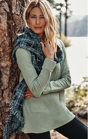 shop our Textured Patch-Pocket Knit Tunic