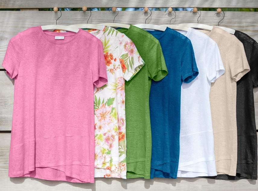 Jjill Collection colorful short sleeve shirts