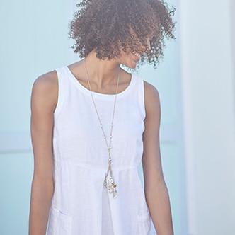 Pima Short-Sleeve V-Neck Tee