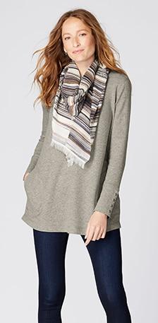Ways to wear outfit - ALYSSA SWEATER-KNIT PENCIL SKIRT - w/ sweater