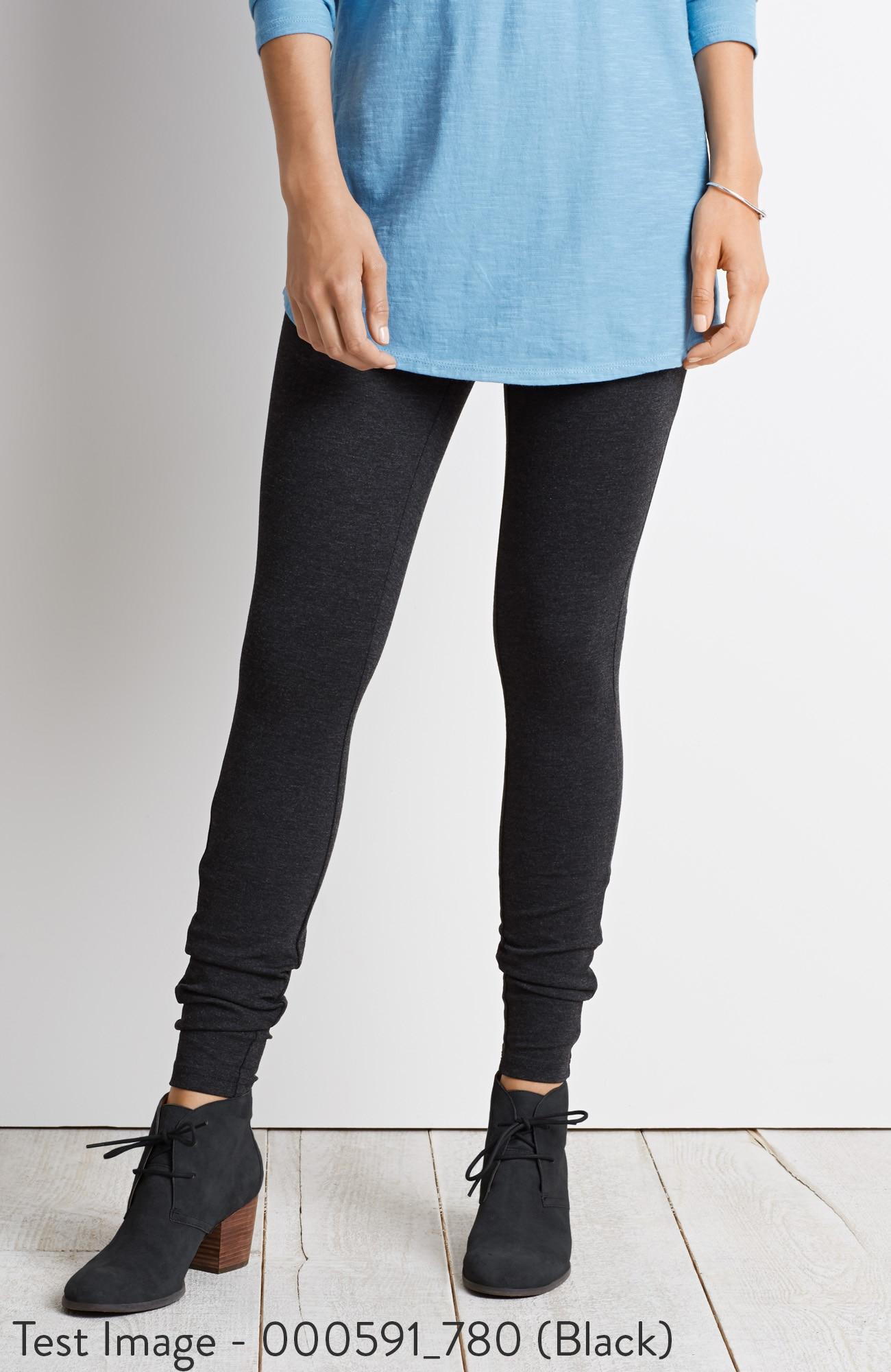 ponte knit zip-pocket leggings