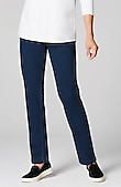 Pure Jill indigo knit slim-leg pants