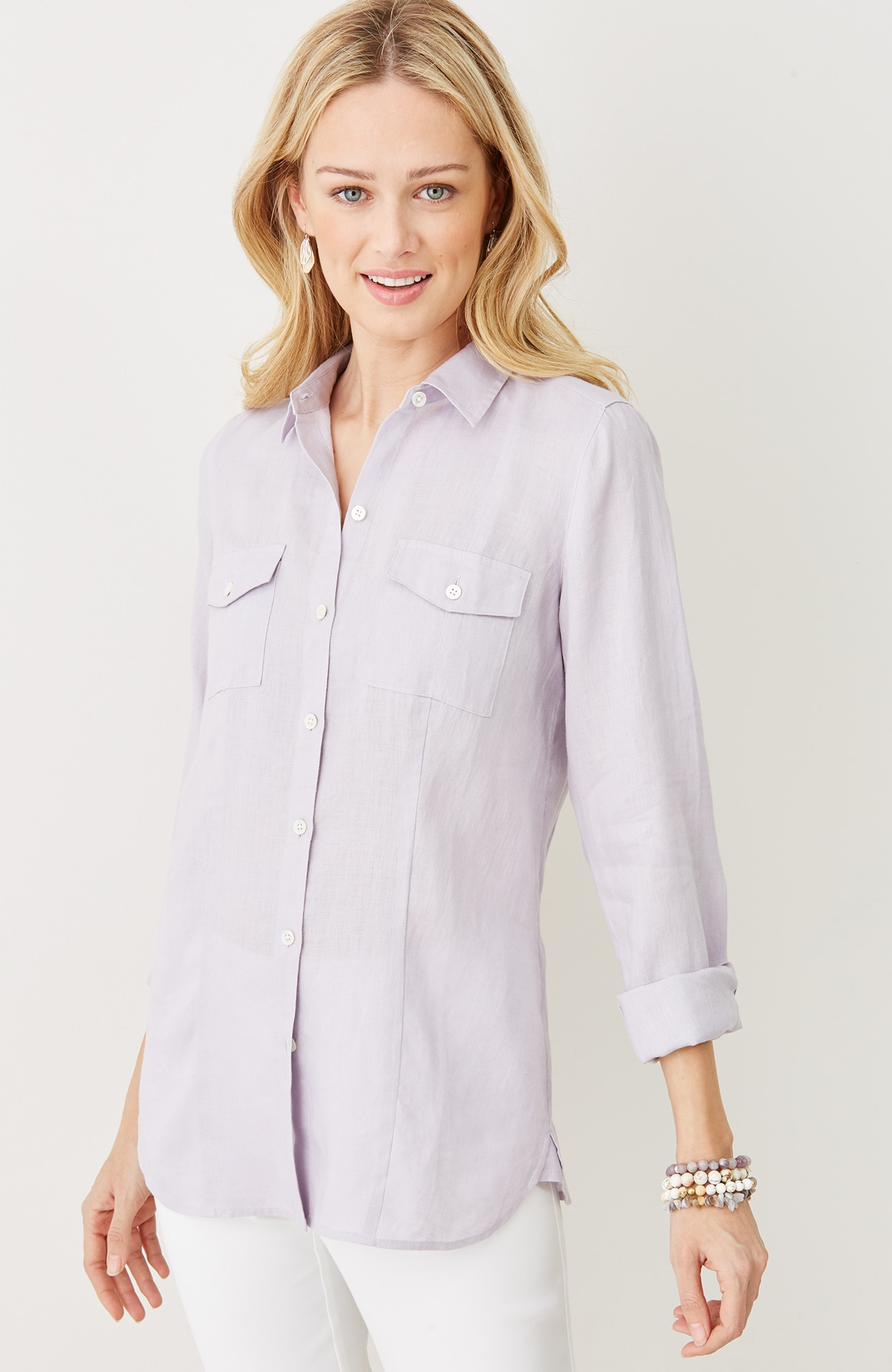 two-pocket linen shirt