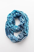 floral mosaic infinity scarf