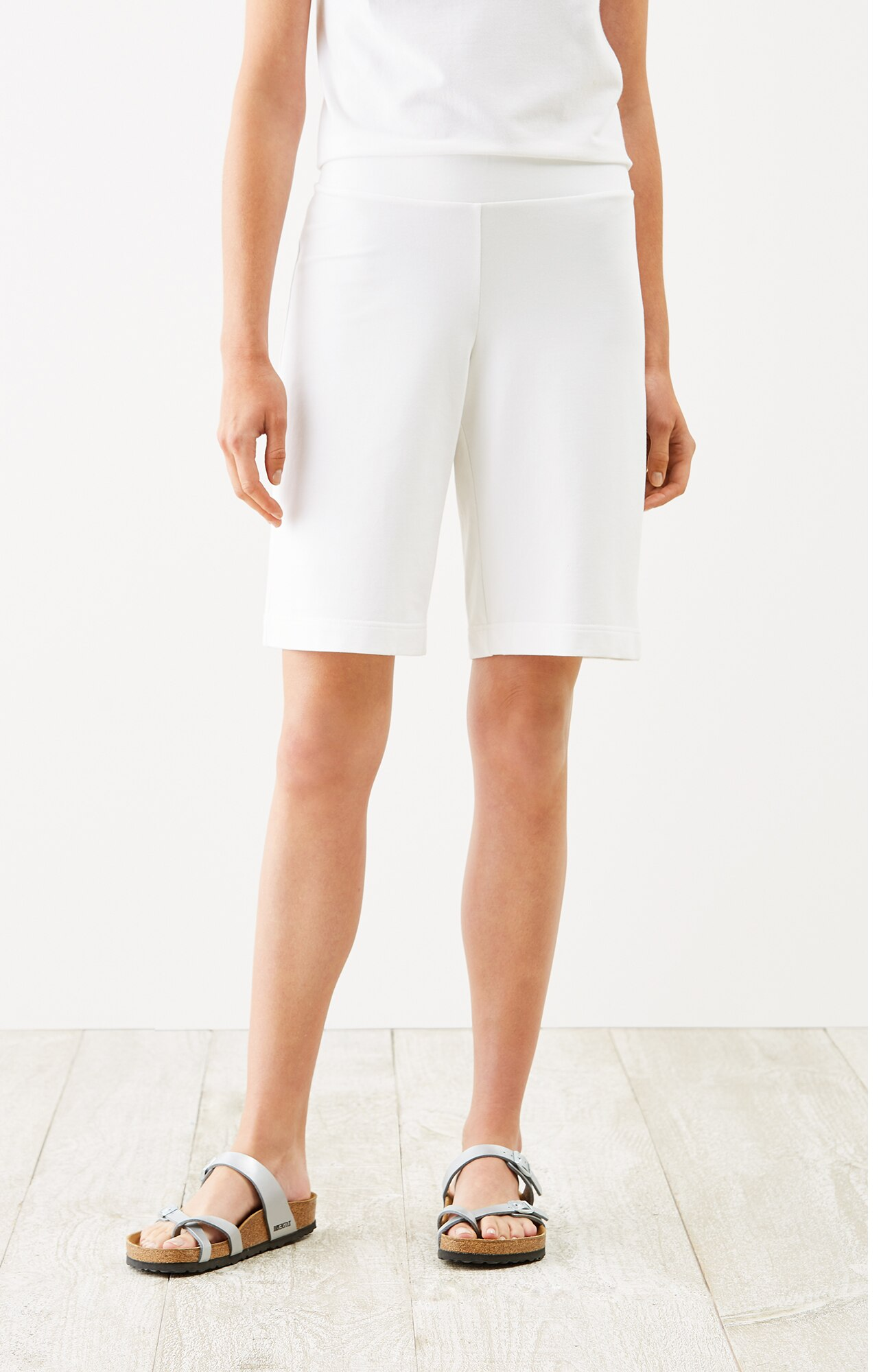 Pure Jill cotton-stretch Bermuda shorts