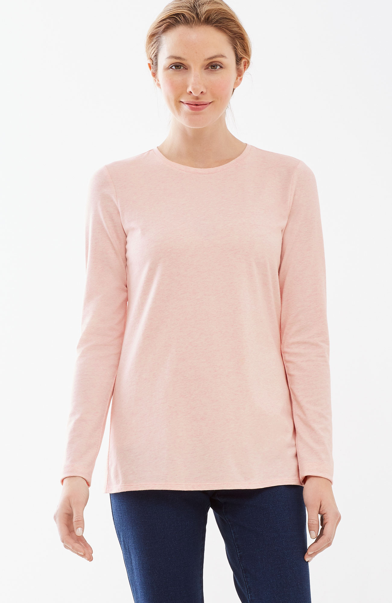 Pure Jill stretch-cotton crew-neck tee