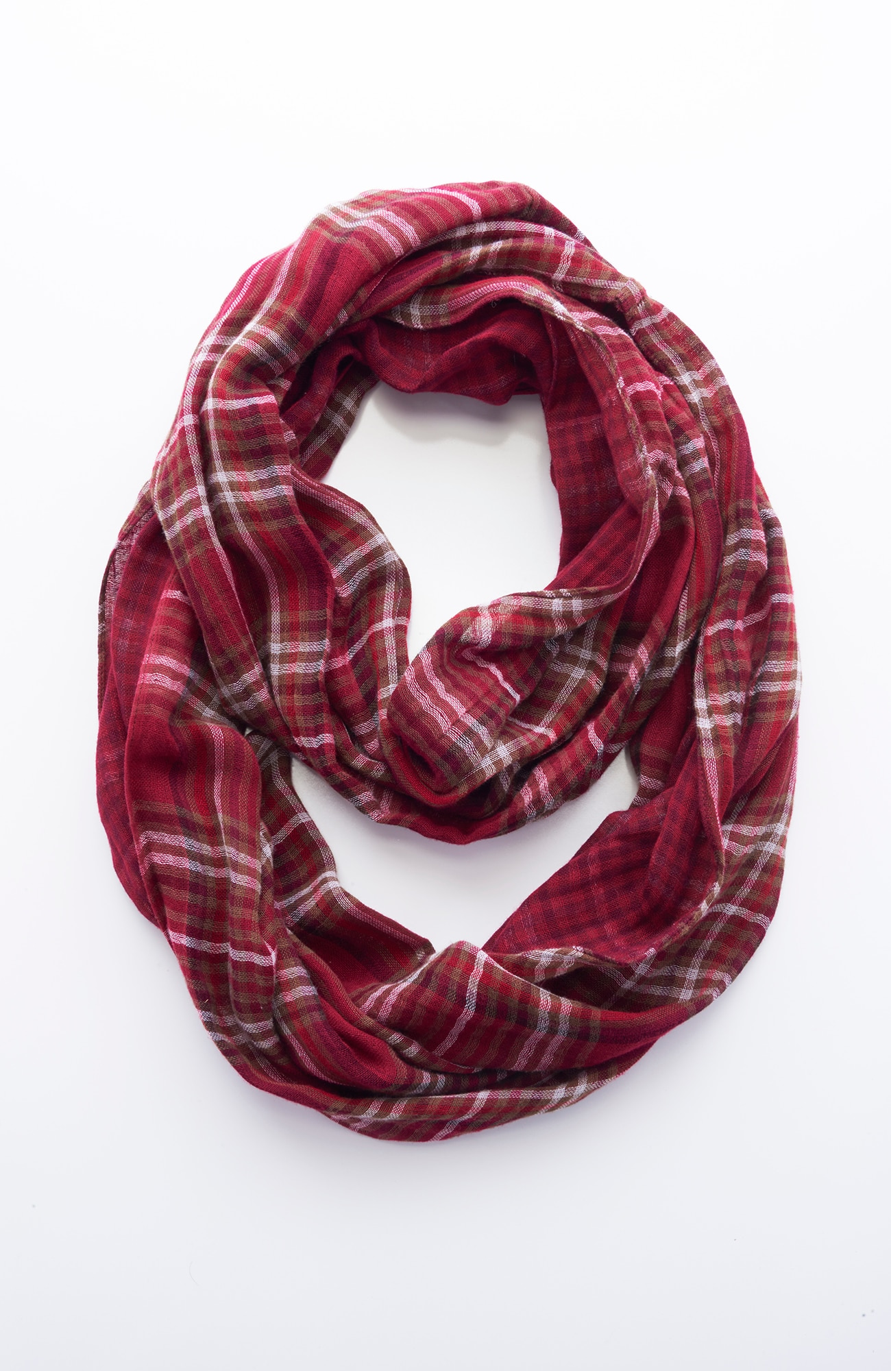 plaid and gingham infinity scarf