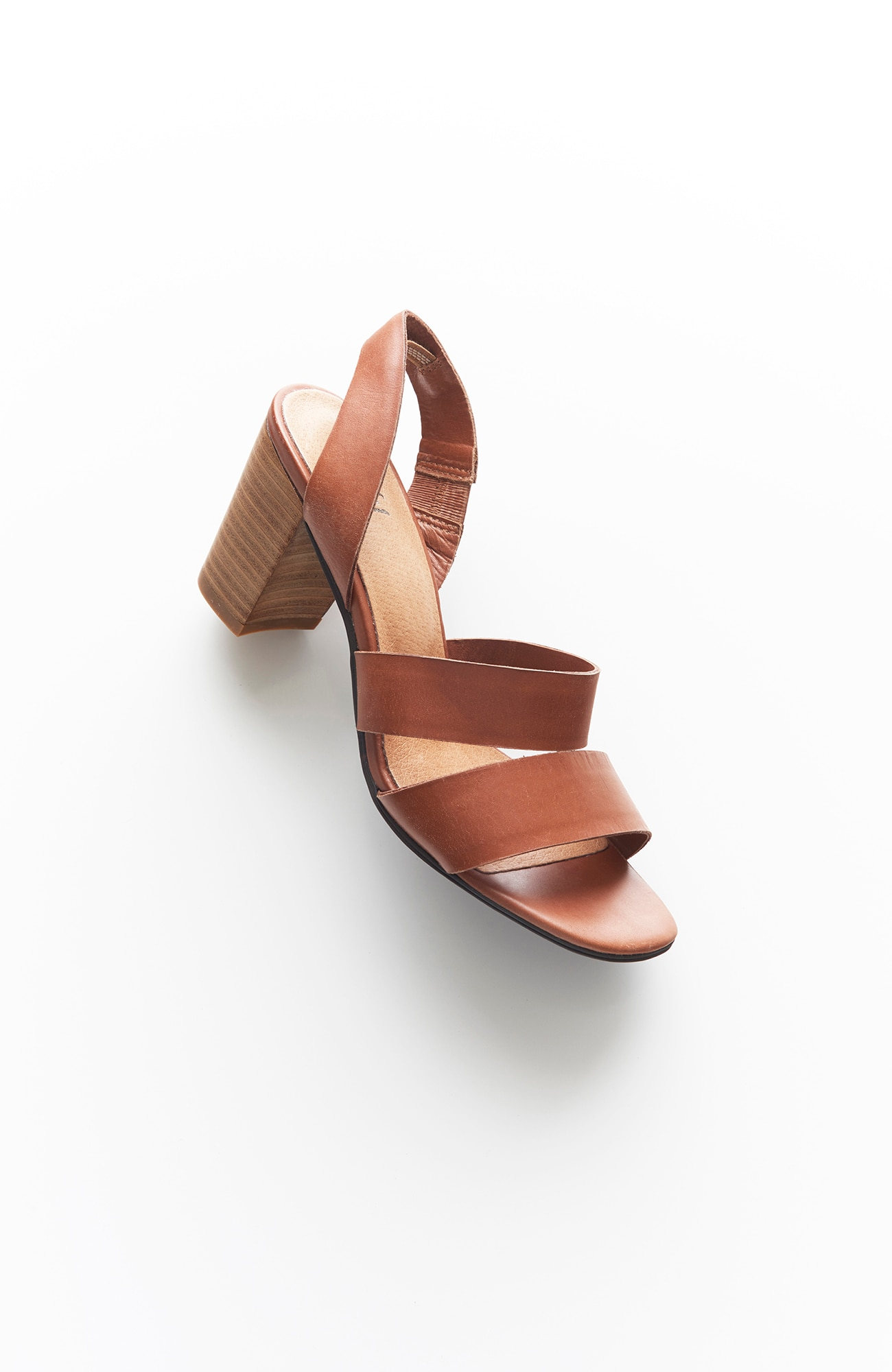 stacked-heel sandals