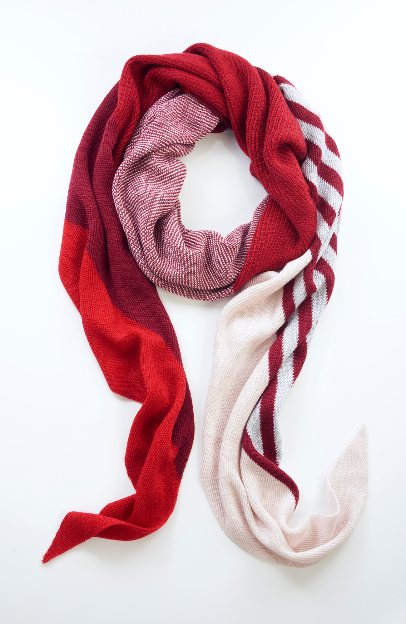 asymmetrical color block scarf