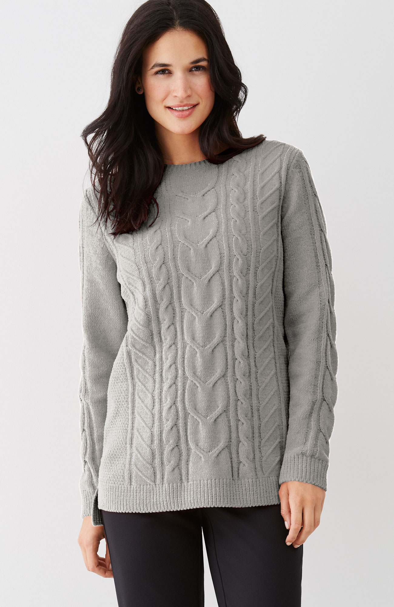 ultrasoft chenille cable sweater